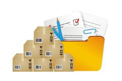 Illustration of storage inventory Royalty Free Stock Photos