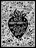 Illustration Of Strawberry And Hand Drawn Lettering. Royalty Free Stock Photography