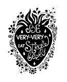 Illustration Of Strawberry And Hand Drawn Lettering. Royalty Free Stock Photo