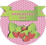 Illustration of strawberry jam stickers royalty free illustration