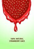 Illustration of strawberry and juice splash Stock Photo