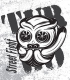 Illustration of street fight titanium bulldog with turbo Royalty Free Stock Photos