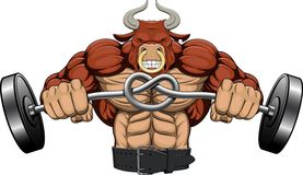 Illustration: a strong angry bull Stock Image