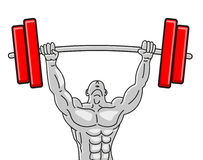 Illustration of strong muscleman Stock Image