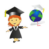 Illustration of student Stock Images