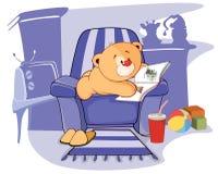 Illustration of a stuffed toy bear cub cartoon Royalty Free Stock Photos