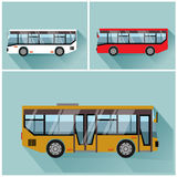 Illustration style bus flet vectors Stock Image