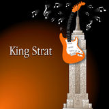 King Strat illustration Royalty Free Stock Image