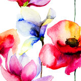 Illustration stylisée de fleurs Photographie stock libre de droits