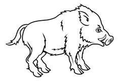 Illustration stylisée de verrat Images libres de droits