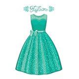 Illustration stylish and trendy clothing. Fashion illustration. Cocktail dress, stock illustration
