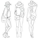 Illustration of stylish woman Stock Image