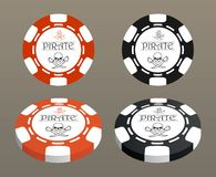 Illustration with stylized poker chips. Stock Images