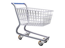 Illustration of a stylized shopping cart Royalty Free Stock Image