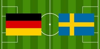 Illustration Suède de la boule 3D du football du football Photos stock