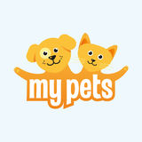 Illustration on the subject of pets Stock Photo