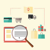 Illustration on the subject of shopping Stock Images