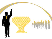 Illustration of success, winner. Gold-yellow Royalty Free Stock Images