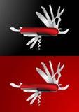 Illustration suisse de vecteur de couteau d'armée illustration de vecteur