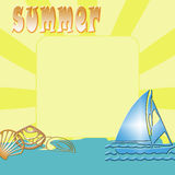 Illustration of summer Royalty Free Stock Image