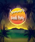Summer Beach Party Flyer. Illustration of Summer Beach Party Flyer Stock Photos