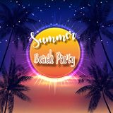Summer Beach Party Flyer. Illustration of Summer Beach Party Flyer Stock Photo