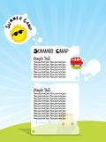 Illustration of summer camp Stock Images