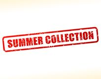 Summer collection text stamp. Illustration of summer collection text stamp Royalty Free Stock Images