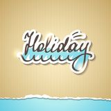 Summer holiday inscription, vector eps 10 Royalty Free Stock Photo