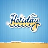 Summer holiday inscription, vector eps 10 Stock Image