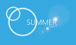 Illustration summer party background Stock Images