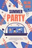 Illustration Summer Party Banner Vector Promotion. vector illustration