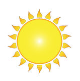 The sun. A  illustration of the sun Royalty Free Stock Images