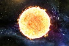 Illustration Sun Starscape 3D lizenzfreie abbildung