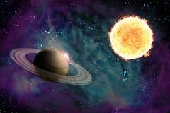 Illustration Sun Starscape 3D stock abbildung