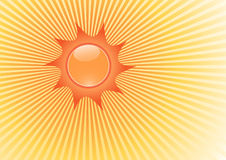 Illustration with sun. Vector Stock Photo