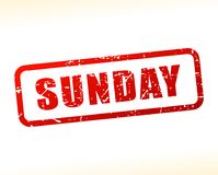 Sunday red text stamp. Illustration of sunday red text stamp Royalty Free Stock Photography