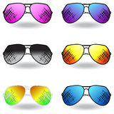 Illustration of sunglasses. Set of sunglasses. Vector Royalty Free Stock Image