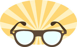 Illustration of sunglasses. Summer icon. Vector abstract illustration Stock Images