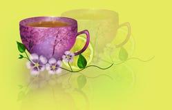Illustration Sunny Breakfast Arkivbilder