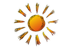Illustration of sunshine Royalty Free Stock Photo