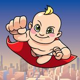 Super Baby City Background royalty free illustration