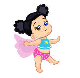 Illustration Super Hero Baby Girl Royalty Free Stock Photo