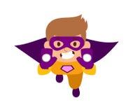 Illustration of super hero boy cartoon character vector. Royalty Free Stock Photography