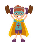 Illustration of super hero boy cartoon character vector. Stock Photos