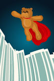 Illustration of Super Hero brown Bear Stock Images