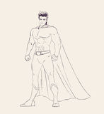 Illustration of super heroe in standing pose Stock Images