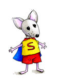 Illustration of super mouse Royalty Free Stock Photo