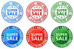 Super sale stamp and label icon. Illustration of super sale stamp and label icon on white background Stock Photo