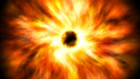 Illustration of supernova explosion with bright orange and yellow colors. Illustration of  supernova explosion with bright orange and yellow colors. Large Royalty Free Stock Images